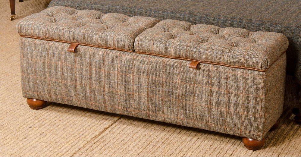 Harris Tweed Eriskay 6' King-Size Bed