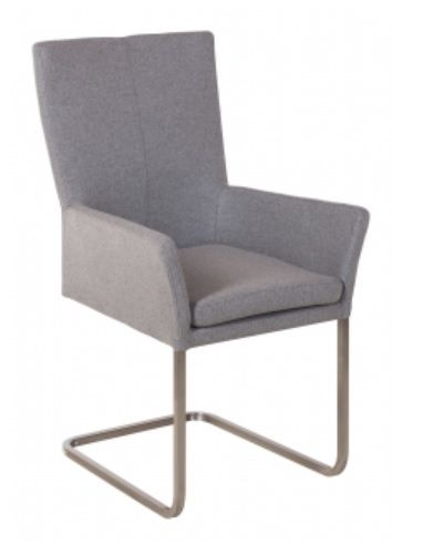 Urban Plush Cantilever Dining Chair with Arms