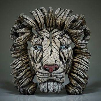Lion Bust (White)