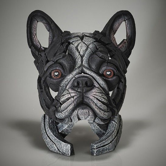 French Bulldog Bust (Pied)