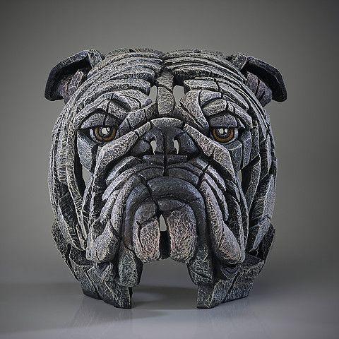 Bulldog Bust (White)
