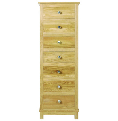 Arundel Oak Seven Drawer Wellington Chest