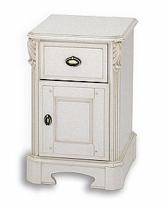 Amore One Drawer One Door Bedside Chest (Narrow)