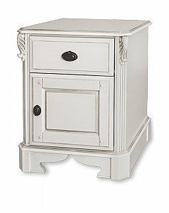 Amore One Drawer One Door Bedside Chest