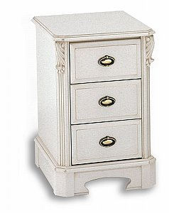 Amore Three Drawer Bedside Chest (Narrow)