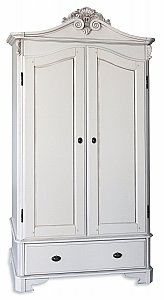 Amore Two Door/Drawer Crested Wardrobe