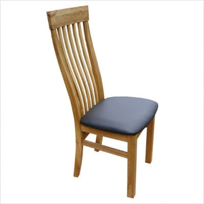 Windsor Swell Chair with Leather Seat