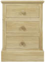 Hunston 3 Drawer Bedside Chest