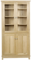 Winchester Tall Bookcase with Doors (Glazed Top Doors)