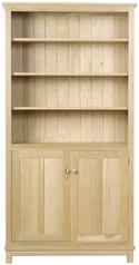 Winchester Tall Bookcase with Doors and 5 Shelves