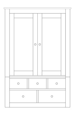 Quercus 1.2 Gents Wardrobe