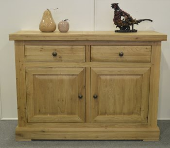 Hampton Abbey Oak 2 Door Sideboard