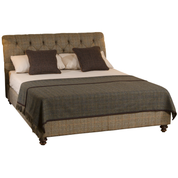 "Harris Tweed Eriskay 4'6"" Double Bed"