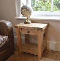 Hampton Abbey Oak Lamp Table