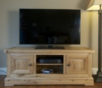 Hampton Abbey Oak Plasma TV Unit