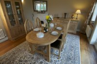 Hampton Abbey Oak 1.8m Oval Extending Table