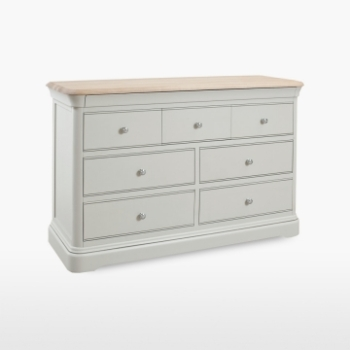 Cromwell Wide 7 Drawer Chest (4+3)