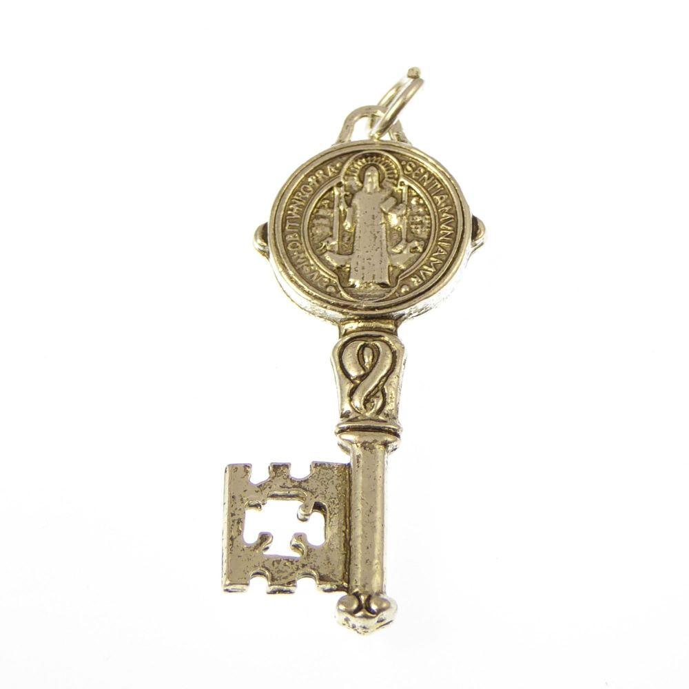 Catholic St. Benedict's key medal