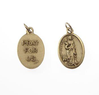 Silver St. Agatha medal 2cm