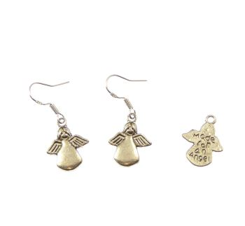 Made for an angel dangly drop earrings sterling silver hooks