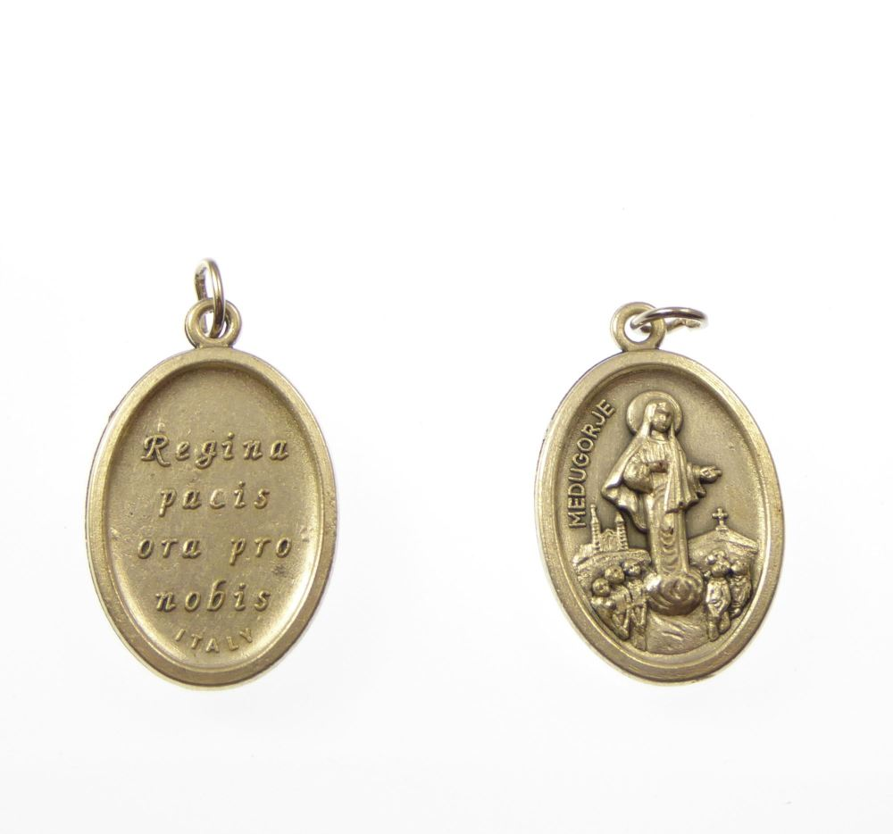 Rosary medal - Our lady of Medjugorje  - metal