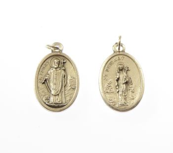 Rosary medal - St. Bridget and St. Patrick - metal