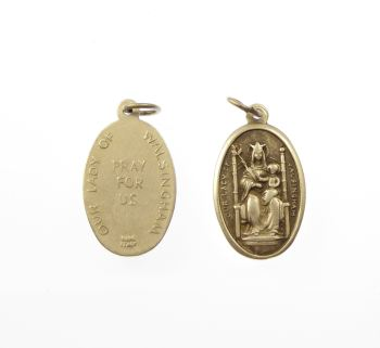 Silver metal Our Lady of Walsingham medal pendant