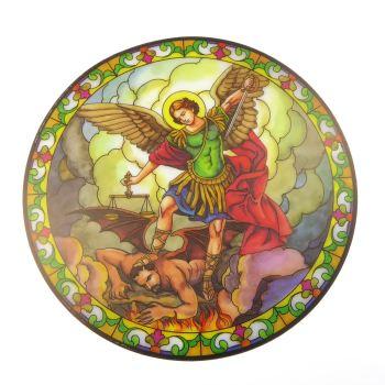 St. Michael suncatcher stained glass window sticker reusable 6 inch