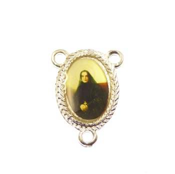 St. Francis Xavier silver center rosary finding 25mm