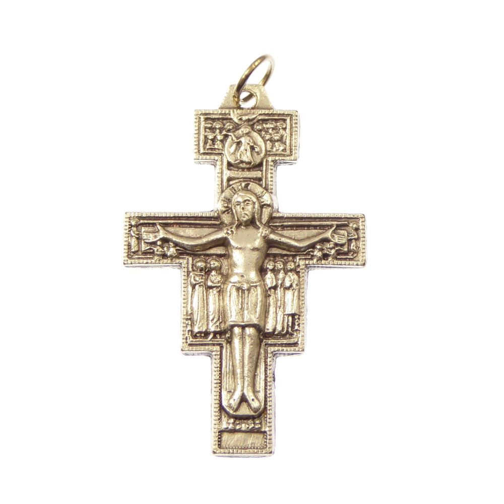 Crucifix cross, San Damiano rosary cross