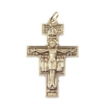 Crucifix cross, San Damiano Francis Assisi rosary cross