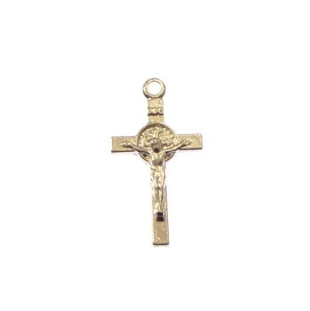 Wholesale St. Benedict silver plated crucifix cross x10
