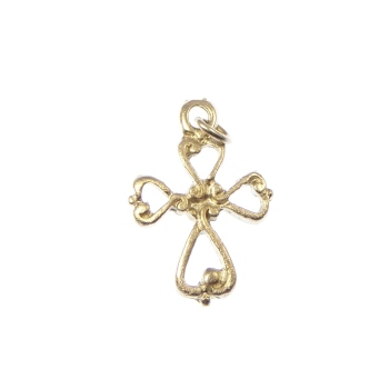 Wholesale silver plated 2cm crucifix cross pendant x 10