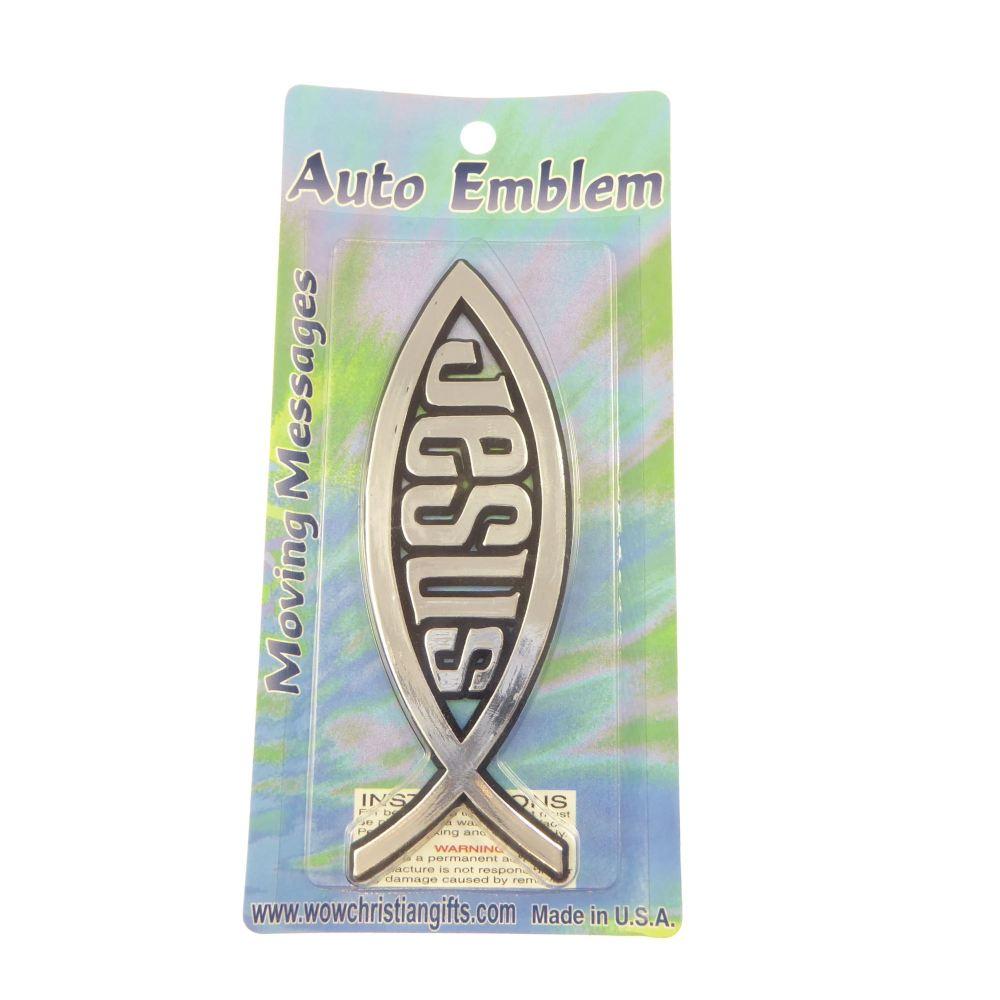 Car auto emblem solid sticker Christian jesus fish gift