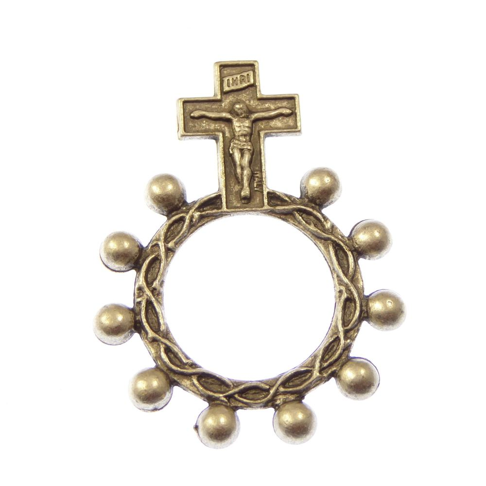 1-Decade metal rosary ring