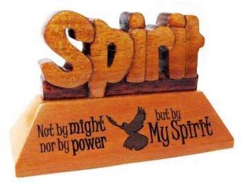 Spirit Christian wood mahogany desktop gift 10cm dove holy spirit ornament