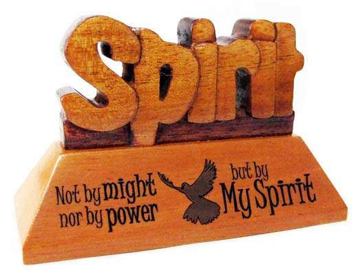 Spirit Christian wood mahogany desktop gift 10cm dove holy spirit ornament