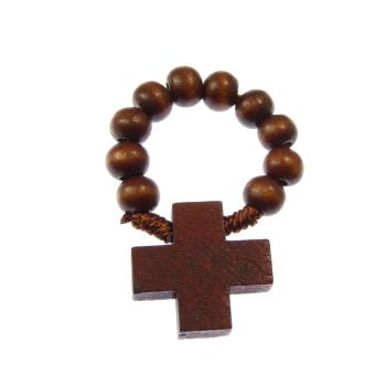 Wooden decade rosary ring rosary beads
