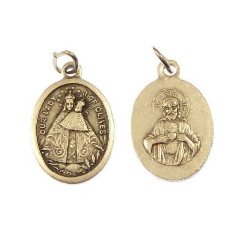 Our Lady of the Olives medal for rosary beads metal pendant