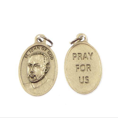 Silver St. John of God medal 2cm