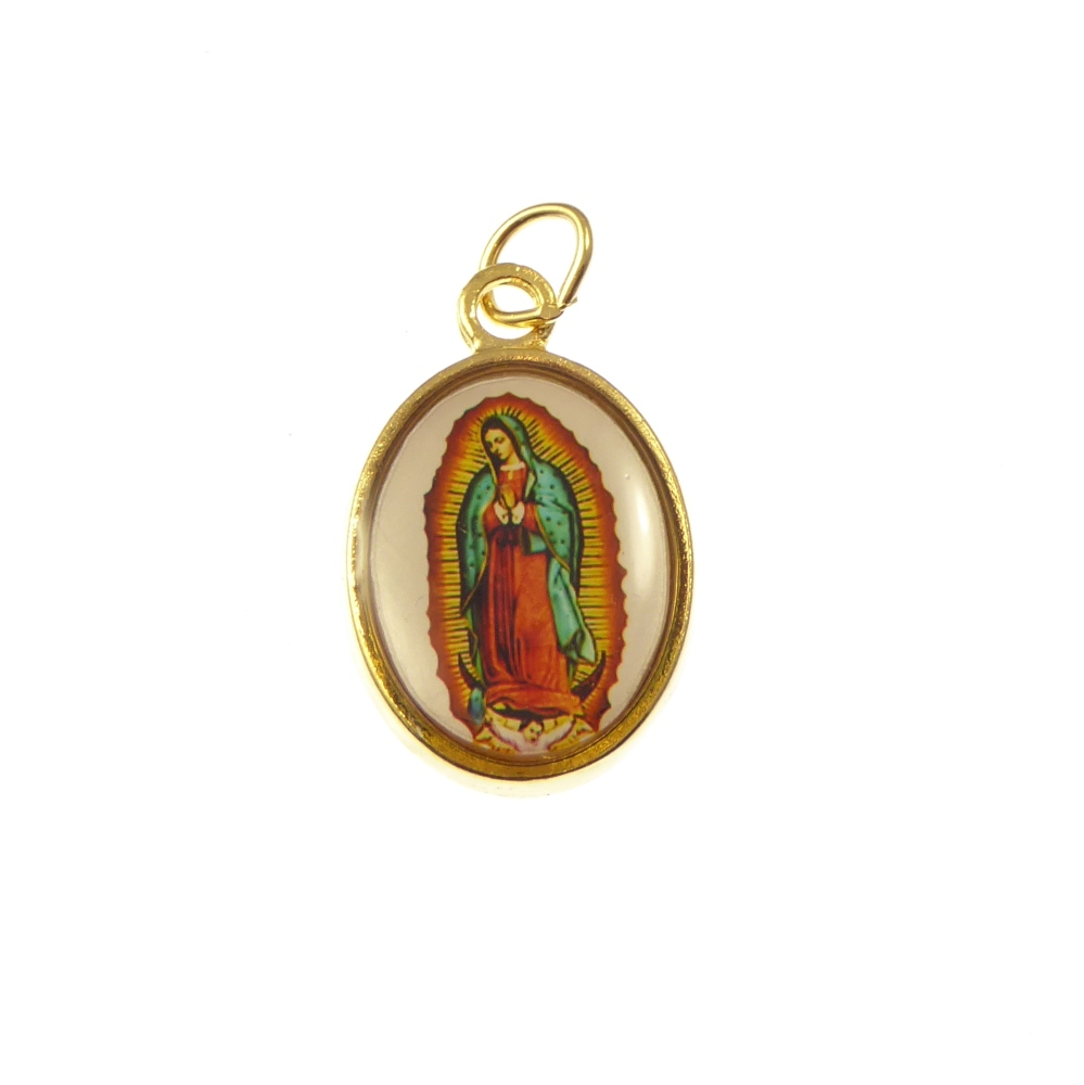 Rosay medal - Our Lady of Guadalupe image gold colour