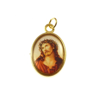 Rosary medal - Sacred Face of Jesus image