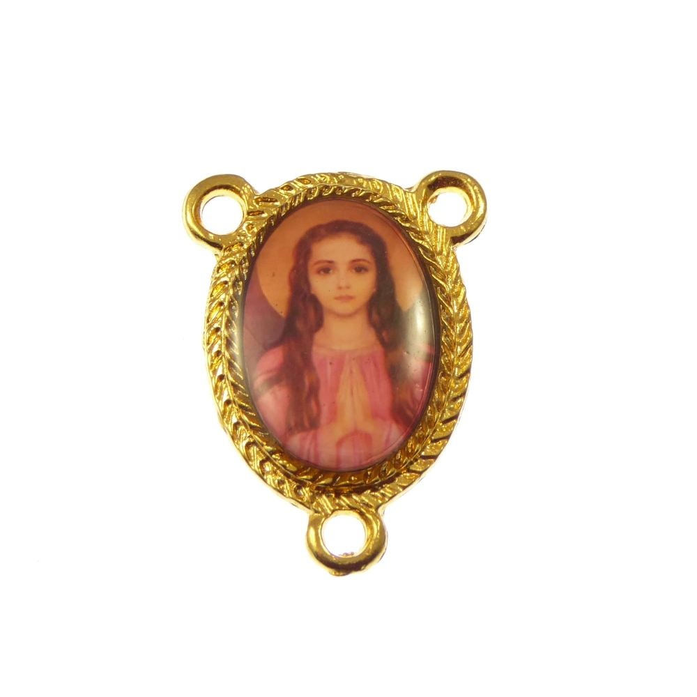 St. Philomena Catholic center gold rosary beads part
