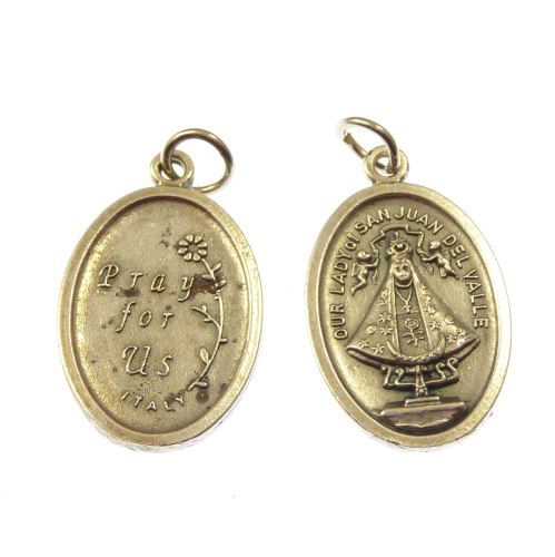 Silver Our Lady of San Juan medal 2cm