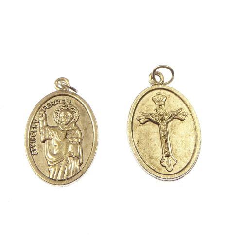 Silver St. Vincent Ferrer medal 2 cm