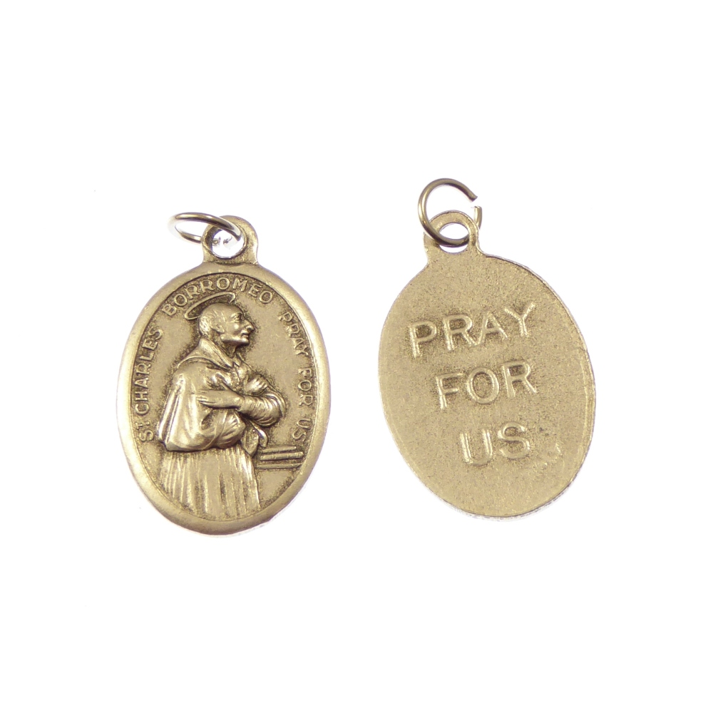 Medal with St. Charles of Borromeo image