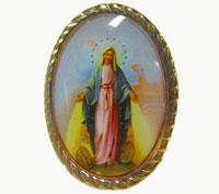 Miraculous catholic image pin