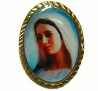 Queen of Peace pin