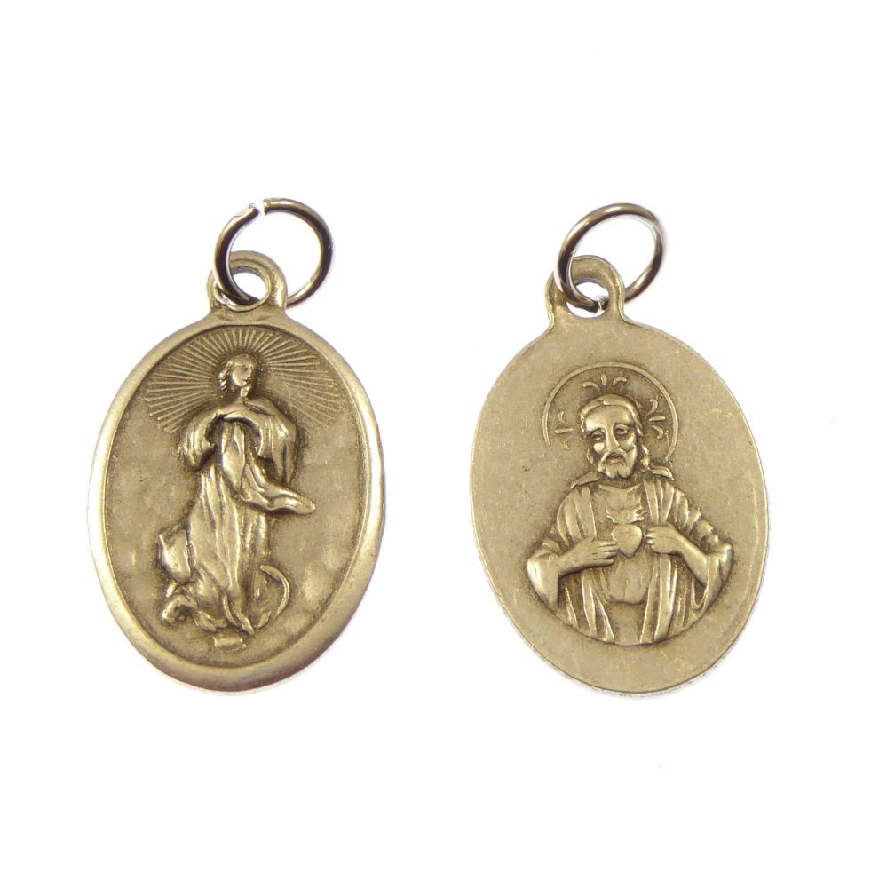 Rosary medal - Our Lady of the Assumption - metal
