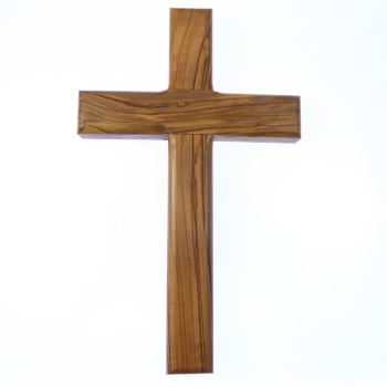 "8"" 20cm solid genuine olive wood wall hanging cross Christian gift hand carved"
